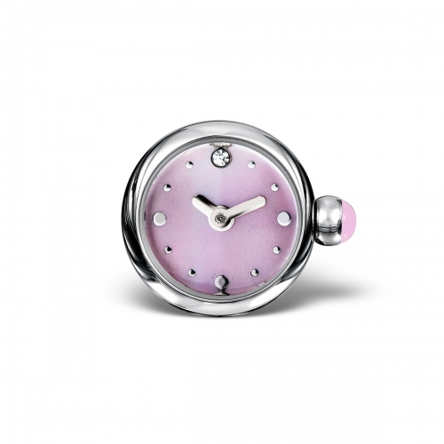 LIMITED SAMPLE: Timebeads Pink Round Watch Charm With Screw Fastening