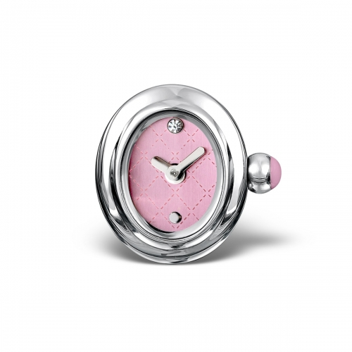 LIMITED SAMPLE: Timebeads Pink Oval Watch Charm With Clip Fastening