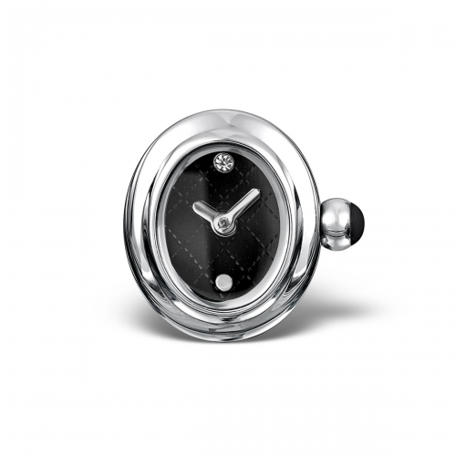 LIMITED SAMPLE: Timebeads Black Oval Watch Charm With Clip Fastening