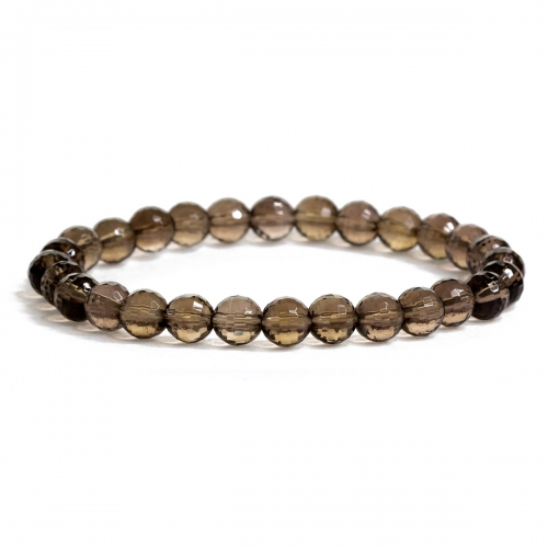 Smokey Quartz Crystal Healing Natural Stone Bead Bracelet