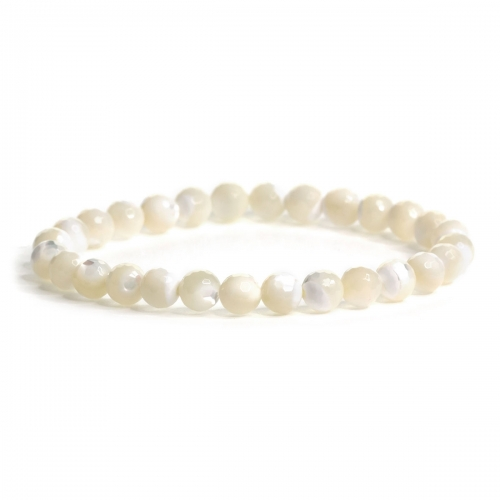 Mother of Pearl Healing Natural Stone Bead Bracelet