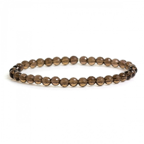Smokey Quartz Healing Natural Small Stone Bead Bracelet