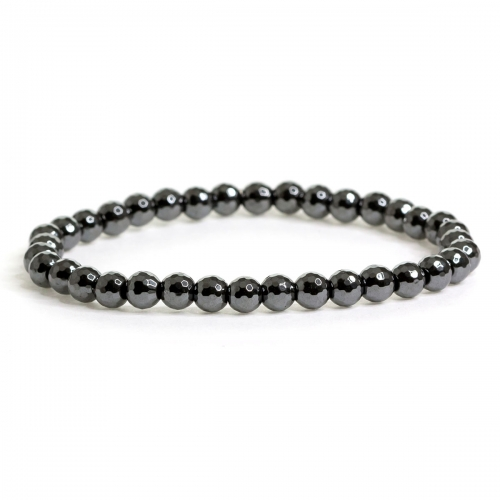 Hematite Magnetic Crystal Healing Natural Stone Small Bead Bracelet