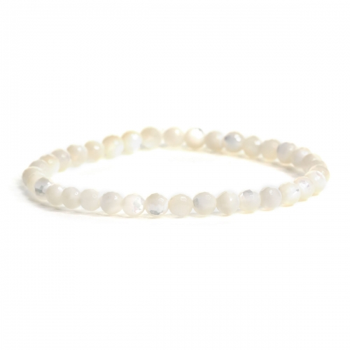 Mother of Pearl Healing Natural Stone Small Bead Bracelet