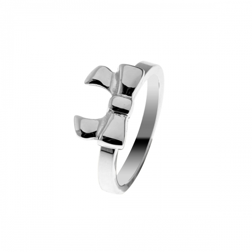 Nicky Vankets Dainty Bow Silver Ring