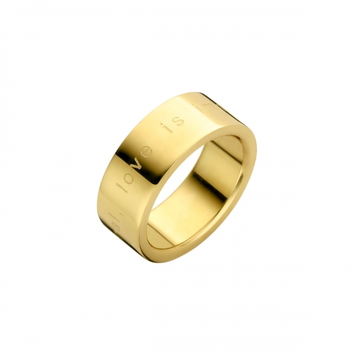 Nicky Vankets Love is Immortal Quote Gold Ring