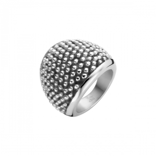 Nicky Vankets Textured Bobble Silver Ring