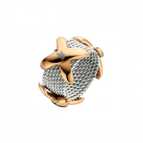 Nicky Vankets X Chain Link Rose Gold & Silver Ring