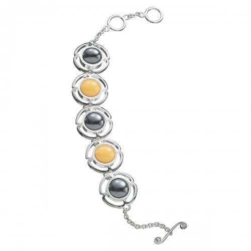 KAMELEON JewelPop Flower Link Sterling Silver Bracelet KBR8