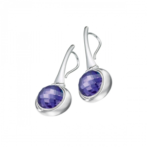 KAMELEON JewelPop Hinged Oval Drop Sterling Silver Earrings KE43