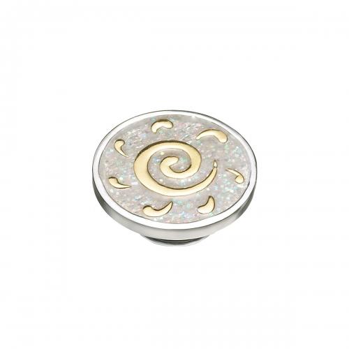 KAMELEON Gold Sun Swirl Sterling Silver & 18k Gold JewelPop KJP450