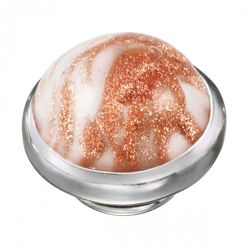 KAMELEON Marbled Gold Murano Glass Sterling Silver JewelPop KJP538