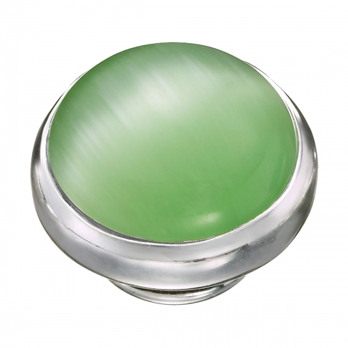 KAMELEON Green Cat's Eye Sterling Silver JewelPop KJP562