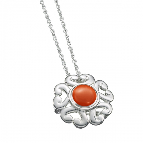 KAMELEON JewelPop Round Scroll Silver Pin/Pendant KPN3