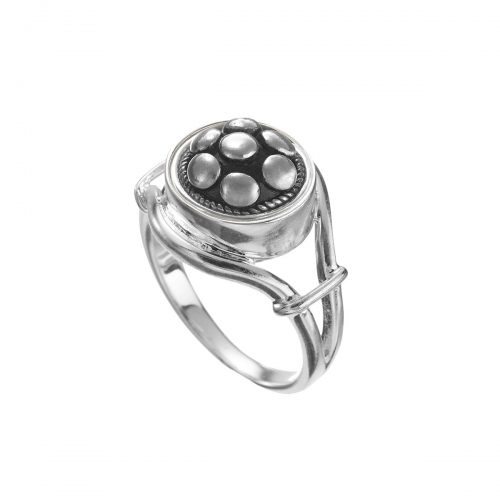 KAMELEON JewelPop Open Side Silver Ring KR8