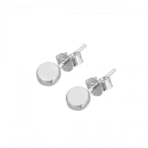 Claudine Silver Stud Earrings