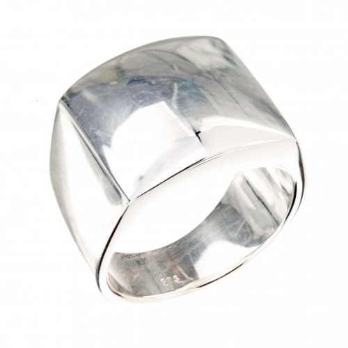 Claudine Silver Chunky Square Ring KA1090S