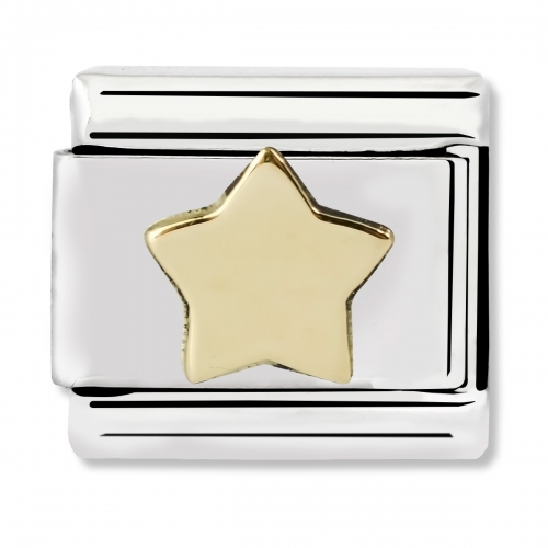 Nomination Classic Star Steel and 18k Gold Link Charm