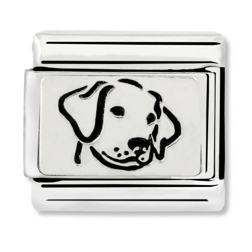 Nomination Classic Dog Steel, Enamel and 925 Silver Link Charm