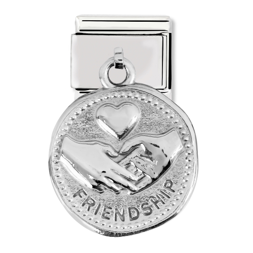 Nomination Classic Friendship Steel and 925 Silver Pendant Link Charm