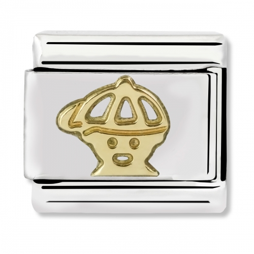 Nomination Classic Boy Steel and 18k Gold Link Charm
