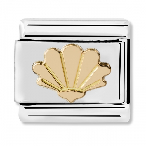 Nomination Classic Shell Steel and 18k Gold Link Charm