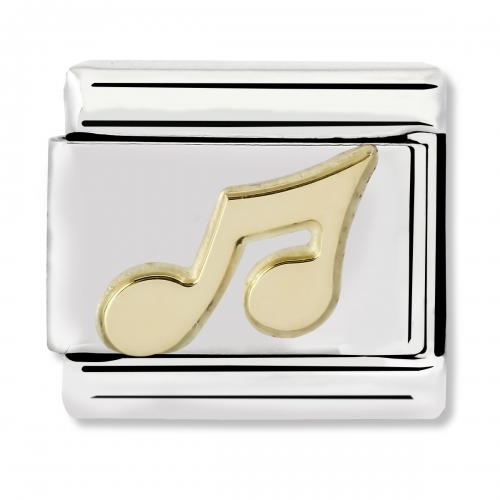 Nomination Classic Musical Note Steel and 18k Gold Link Charm