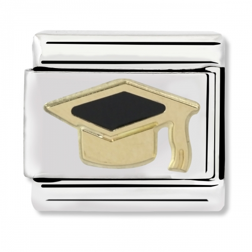 Nomination Classic Graduate Steel, Enamel and 18k Gold Link Charm
