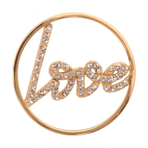 Nikki Lissoni Sparkling Love - Medium Gold Plated Coin