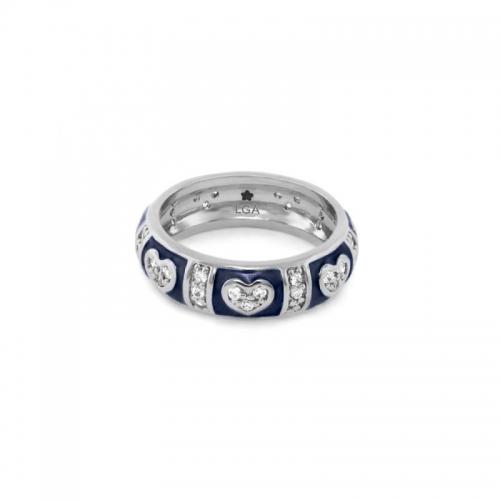 Lauren G Adams Blue Heart Stackable Ring
