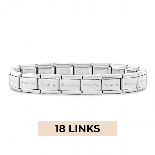 Nomination Classic 18 Link Composable Silver Steel Starter Bracelet