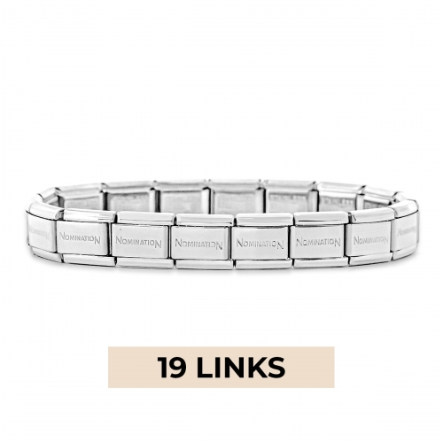 Nomination Classic 19 Link Composable Silver Steel Starter Bracelet