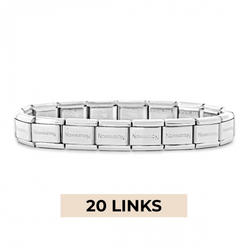 Nomination Classic 20 Link Composable Silver Steel Starter Bracelet