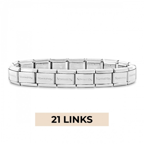 Nomination Classic 21 Link Composable Silver Steel Starter Bracelet