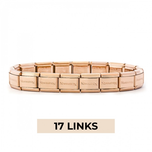 Nomination Classic 17 Link Composable Rose Gold Steel Starter Bracelet