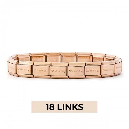 Nomination Classic 18 Link Composable Rose Gold Steel Starter Bracelet
