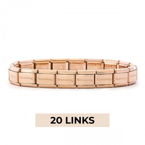 Nomination Classic 20 Link Composable Rose Gold Steel Starter Bracelet