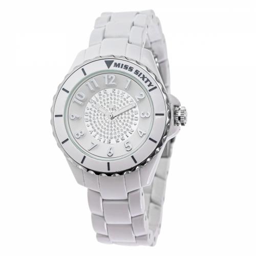 Miss Sixty Glitter White & Silver Watch