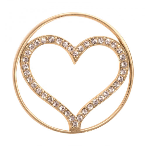 Nikki Lissoni Sparkling Heart - Medium Gold Plated Coin