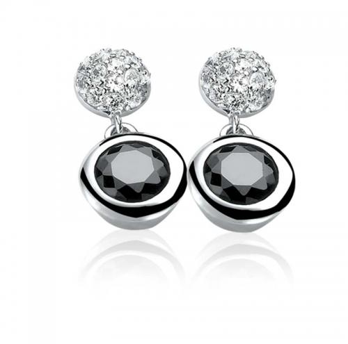 Zinzi Sterling Silver and White Zirconia Drop Earrings ZIO458