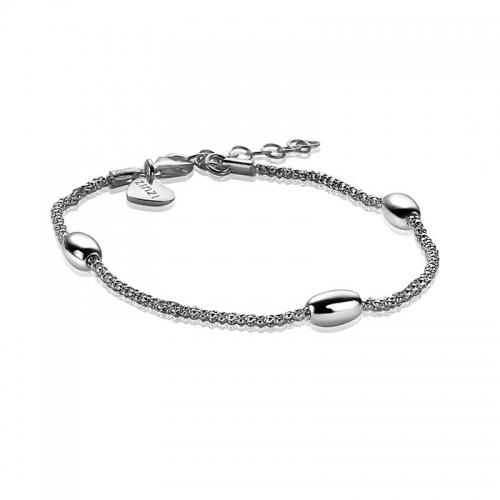 EX DISPLAY: Zinzi Silver Plated Fantasy Bracelet ZIA1089