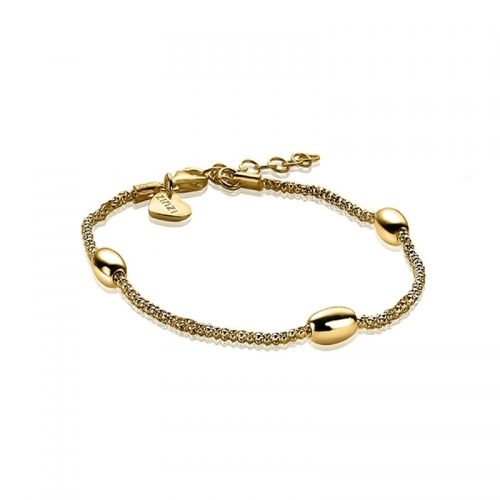 EX DISPLAY: Zinzi Gold Plated Fantasy Bracelet ZIA1089G