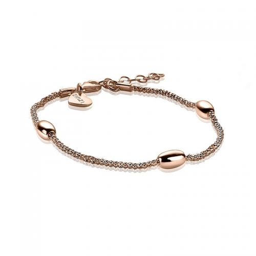 EX DISPLAY: Zinzi Rose Gold Plated Fantasy Bracelet ZIA1089R