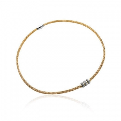 EX DISPLAY: Zinzi Gold Plated Silver Necklace 45cm ZIC839G