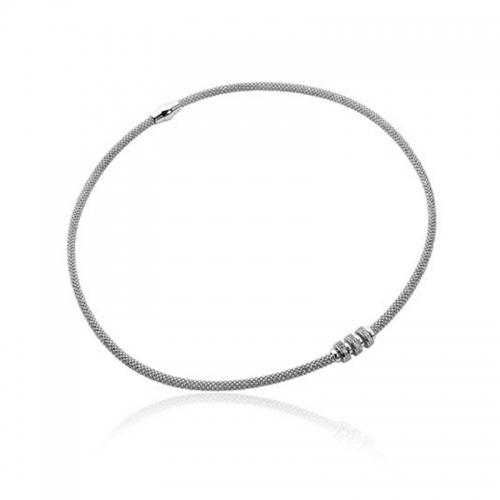 EX DISPLAY Zinzi Silver Necklace 45cm ZIC839