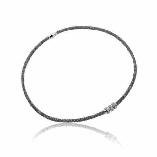EX DISPLAY: Zinzi Dark Rhodium Silver Necklace 45cm ZIC839Z