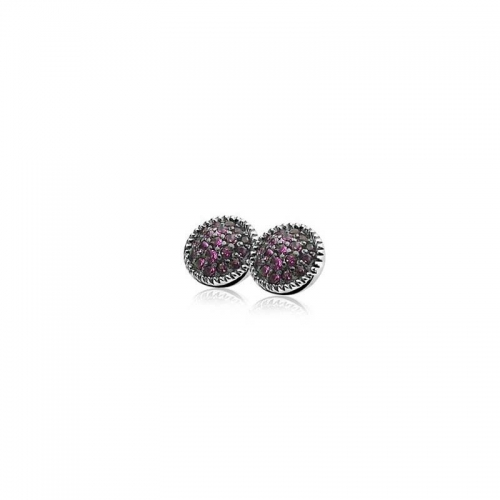 Zinzi Silver Stud Earrings With Red Zirconias ZIO930R
