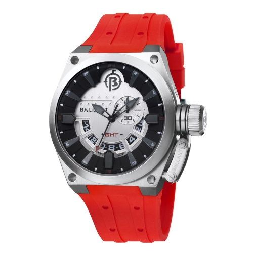 Ballast Red & Silver Valiant Swiss Made GMT Watch