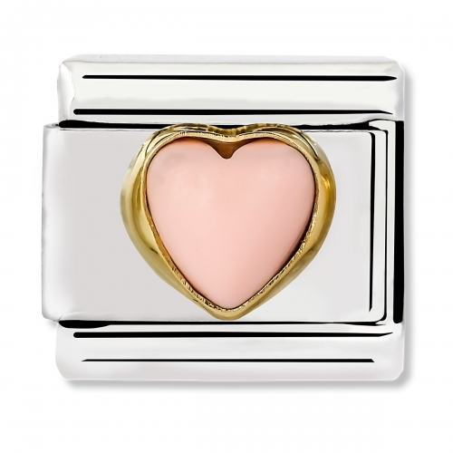 Nomination Classic Pink Coral Heart Link Charm