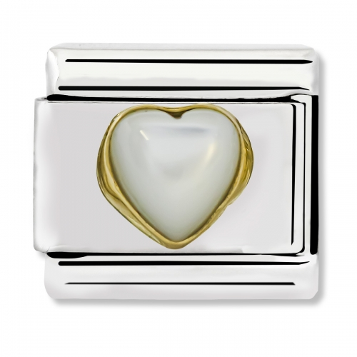 Nomination Classic Mother of Pearl Heart Link Charm